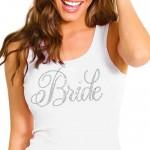 white bride tank